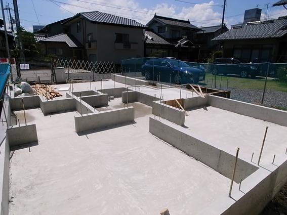 井口の家 基礎工事