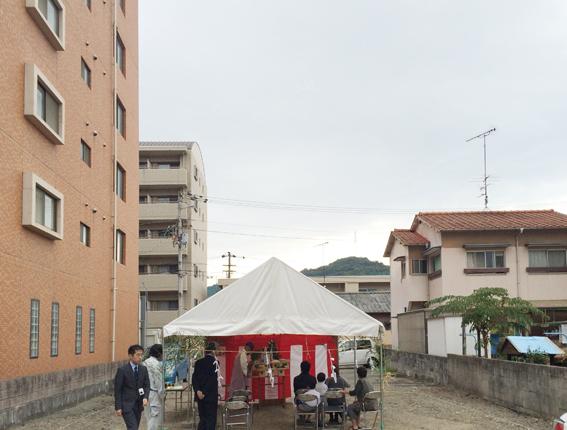 城北の家 地鎮祭