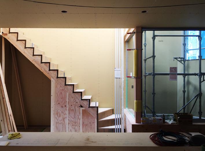 府中町の家 階段まわり