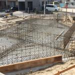 楽々園の家 基礎工事