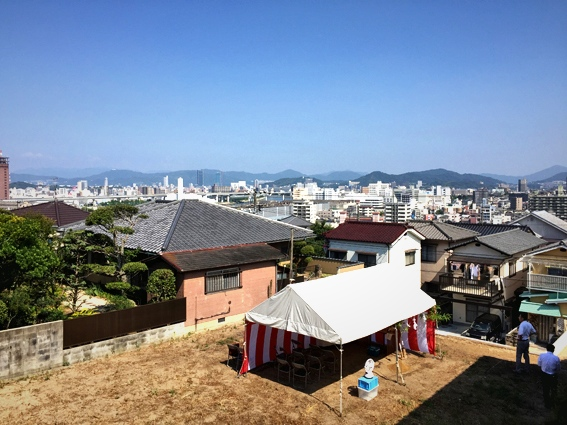 青崎の家 地鎮祭