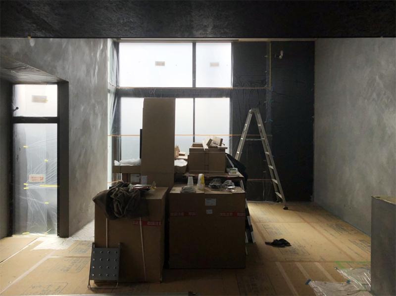 宇部の家 壁仕上げ