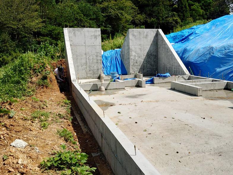 大田の家 基礎工事